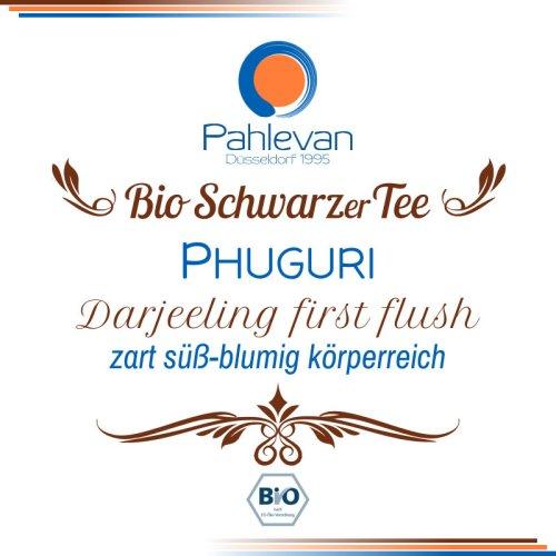 Bio Schwarzer Tee Darjeeling Phuguri first flush | zart süßblümig körperreich von Tee Pahlevan