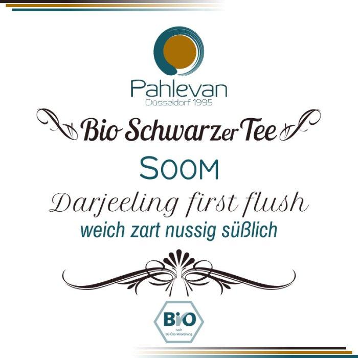 Bio Schwarzer Tee Darjeeling Soom first flush | wiech zart nussig süßlich von Tee Pahlevan