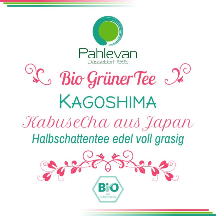 Bio Grüner Tee Kabusecha Kagoshima | aus Japan HalbSchattentee edel voll grasig von Tee Pahlevan