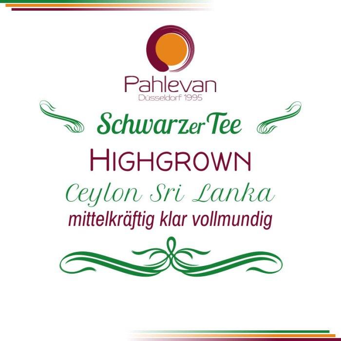 Schwarzer Tee Ceylon Highgrown | mittelkräftig klar vollmundig von Tee Pahlevan