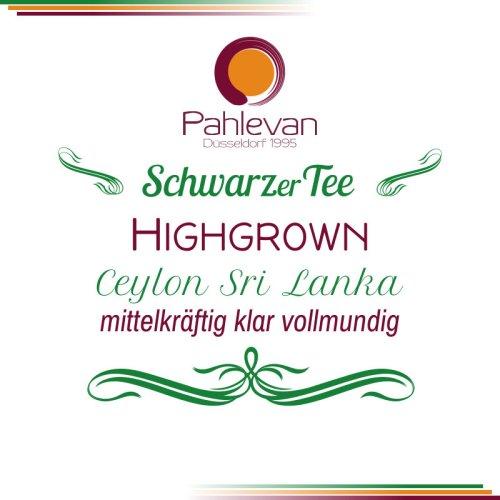 Schwarzer Tee Ceylon Highgrown   mittelkräftig klar vollmundig von Tee Pahlevan