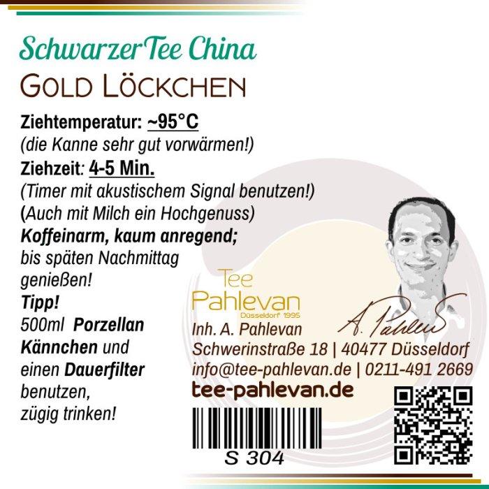 Schwarzer Tee China Goldlöckchen | dunkel leicht süßlich Rarität von Tee Pahlevan