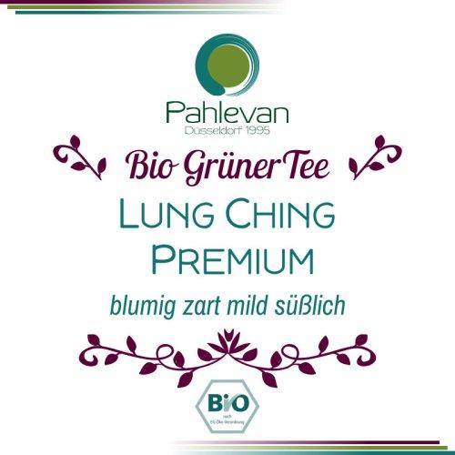 Bio Grüner Tee Lung Ching Premium | China blumig zart mild süßlich von Tee Pahlevan
