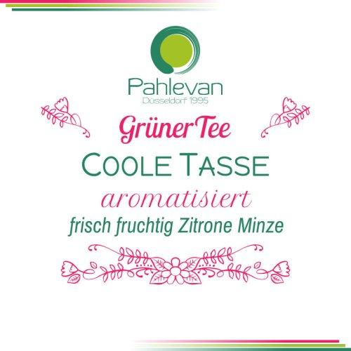 Grüner Tee Coole Tasse | frisch fruchtig Zitrone Minze von Tee Pahlevan