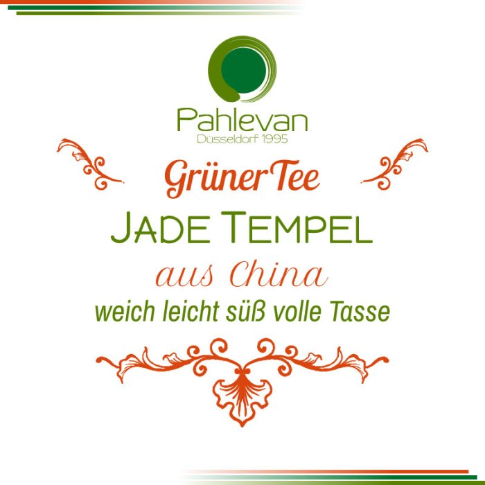 Grüner Tee Jade Tempel | China weich leicht süß volle Tasse von Tee Pahlevan