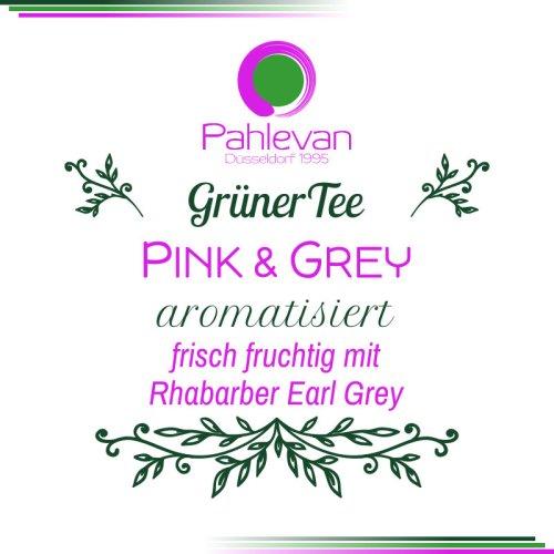 Grüner Tee Pink and Grey | frisch fruchtig mit Rhabarber Earl Grey von Tee Pahlevan