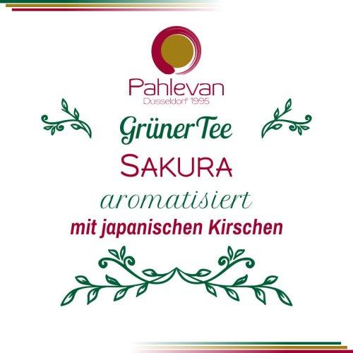 Grüner Tee Sakura   mit japanischen Kirsche und Rosen von Tee Pahlevan