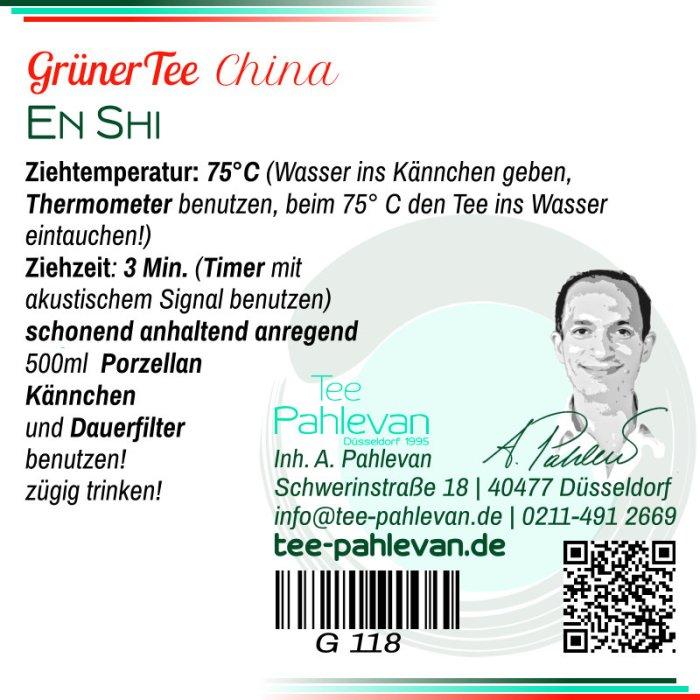 Grüner Tee En Shi | 75°C, Ziehzeit 2-3 Minuten anregend von Tee Pahlevan