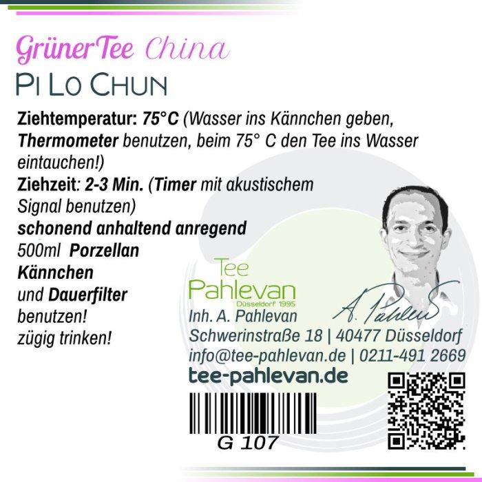 Grüner Tee Pi Lo Chun | 75°C, Ziehzeit 2-3 Minuten anregend von Tee Pahlevan
