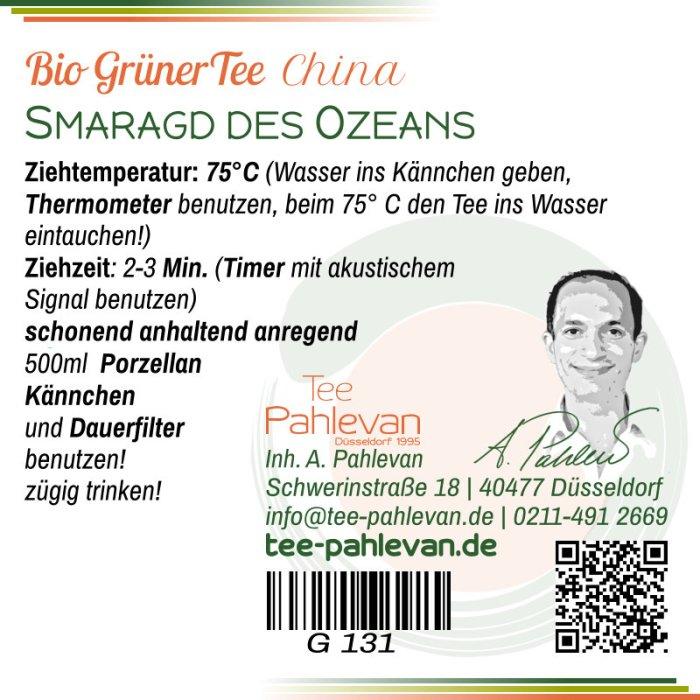 Bio Grüner Tee Smaragd des Ozeans | 75°C, Ziehzeit 2-3 Minuten anregend von Tee Pahlevan