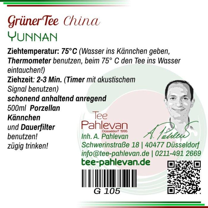 Grüner Tee Yunnan   75°C, Ziehzeit 2-3 Minuten anregend von Tee Pahlevan