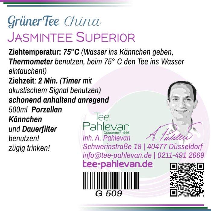 Jasmintee Superior   75°C, Ziehzeit 2-3 Minuten anregend von Tee Pahlevan