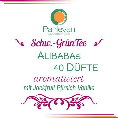Schwarzer Tee Alibabas 40 Düfte | mit jackfruit Pfirsich Vanille von Tee Pahlevan