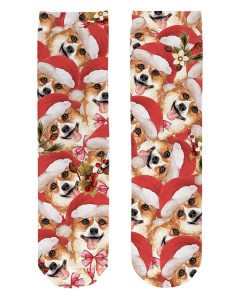 Corgi Christmas Crew Length Socks