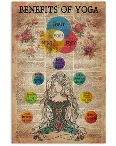 Benefits Of Yoga Vertical Poster