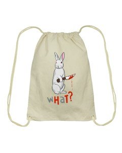 Killer Bunny Drawstring Bag