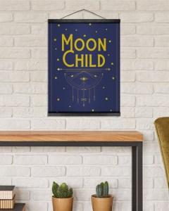 Moon Child Hanging Canvas