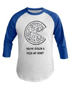 Stolen Pizza My Heart Baseball Tee
