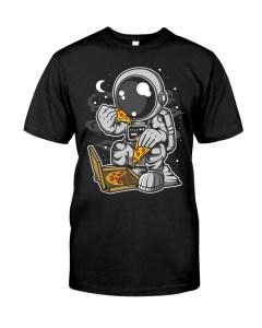 Astronaut Eating Pizza T-Shirt