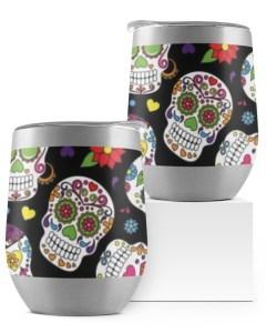 Colorful Skull Wine Tumbler