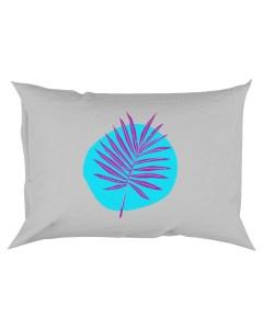 Palm Leaf Purple Rectangular Pillowcase