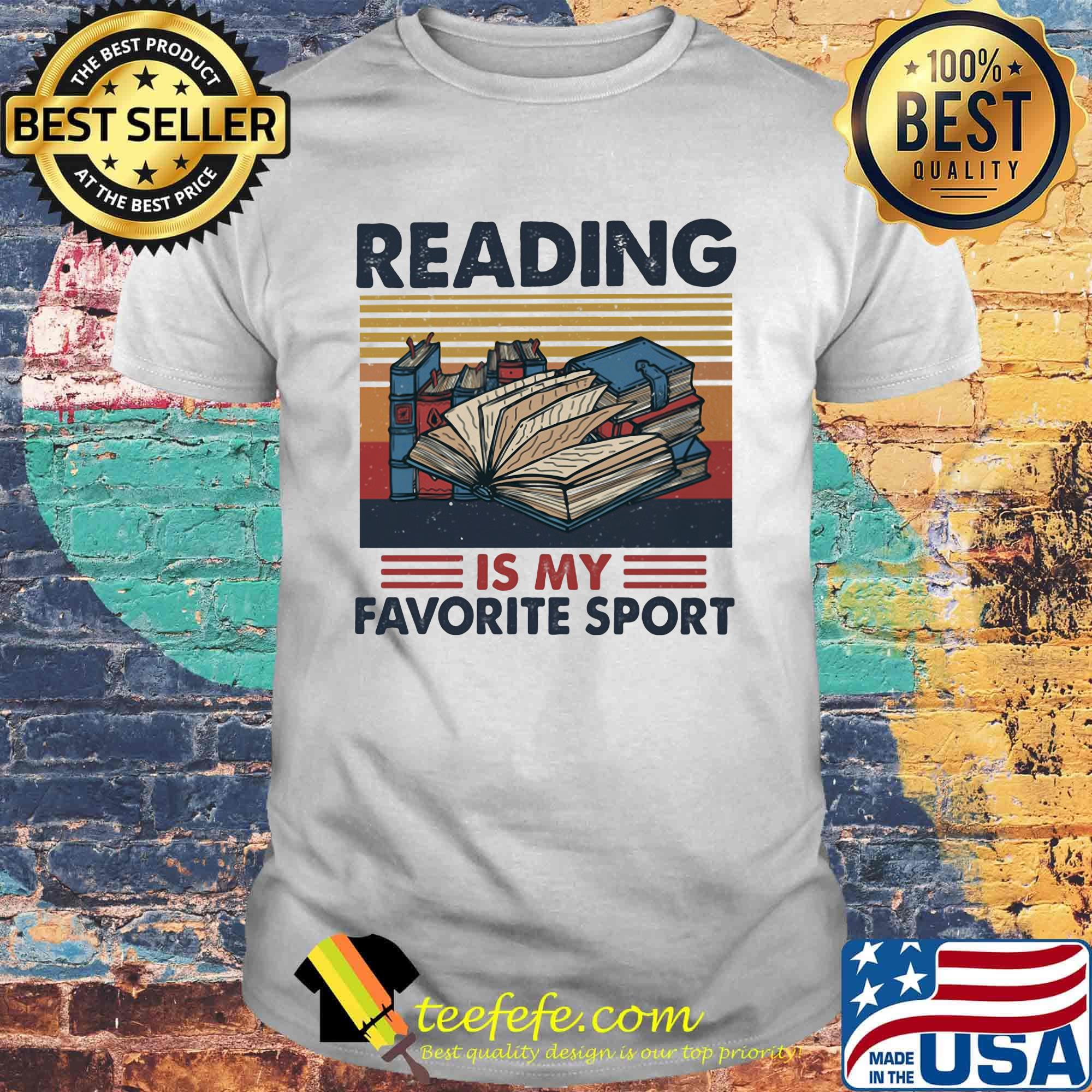 Reading Is My Favorite Sport Vintage Retro Shirt