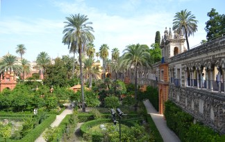 one of the many incredible gardens at the Real Alcazar AKA Dorne!!