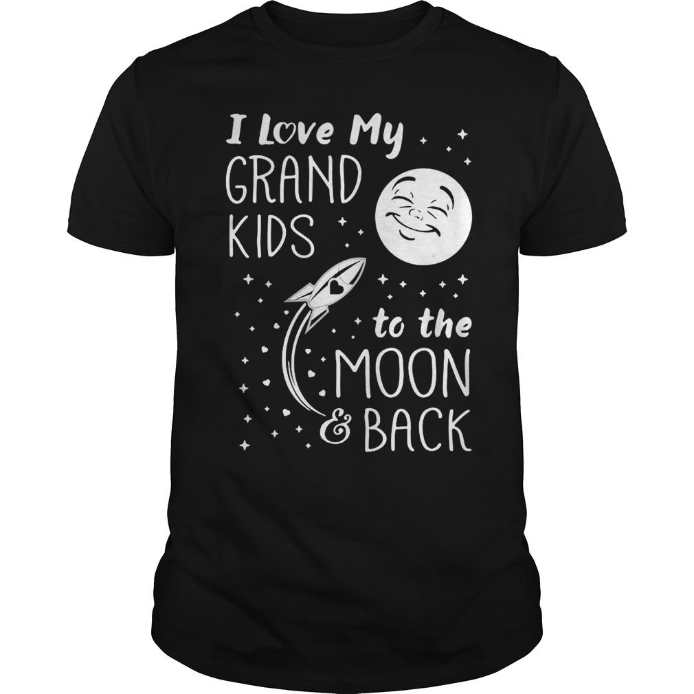 Download I love my grandkids to the moon and back shirt - teegogo.com