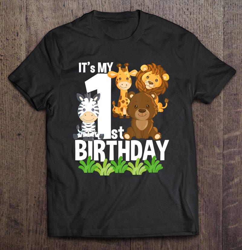 Safari Animal Birthday Shirt Baby Boy First Birthday Shirt Animal Birthday Shirt Wild One Birthday Boy Birthday First Birthday Shirt Zoo Boy Tops Baby Boys Clothing