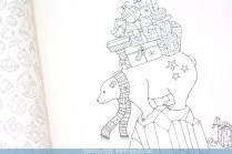 Krāsojamā grāmata pieaugušajiem Johanna's Christmas - leduslācis