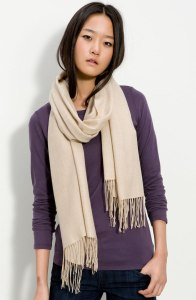 Tissue Weight Wool and Cashmere Wrap