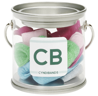 CYNDIBANDS Mini Paint Tin with 6 Hair Ties