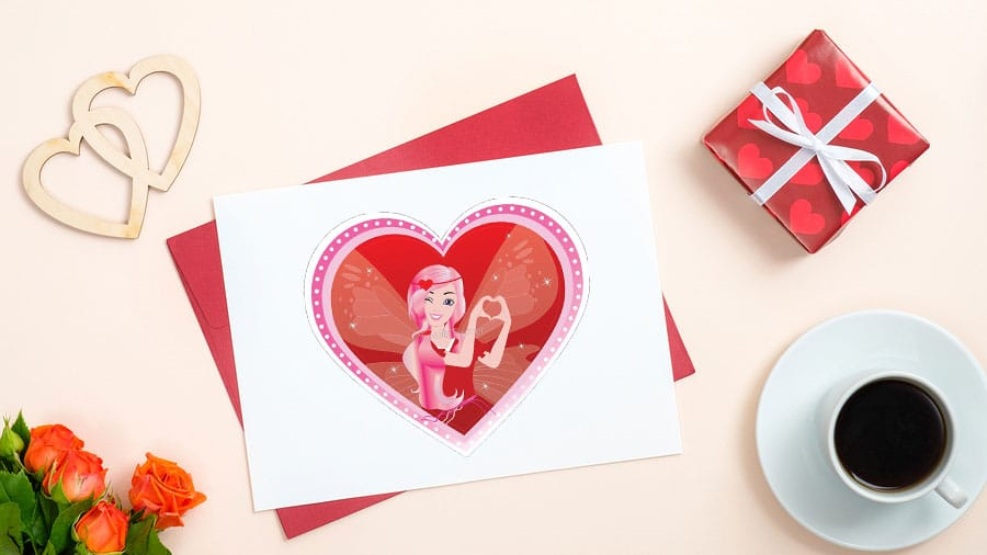 Sugarsnap The Valentine's Day Card Fairy: Here to Spread Love and Sweetness  this Valentine's Day