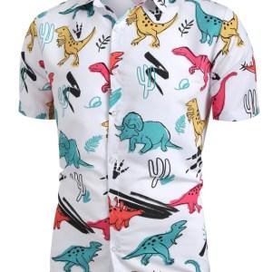 Dinosaur Button Up Shirt