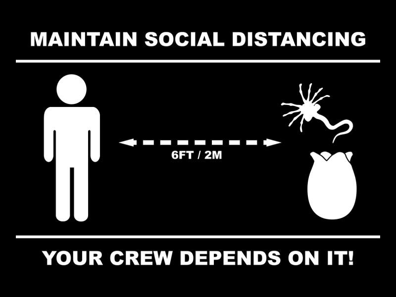 alien social distancing