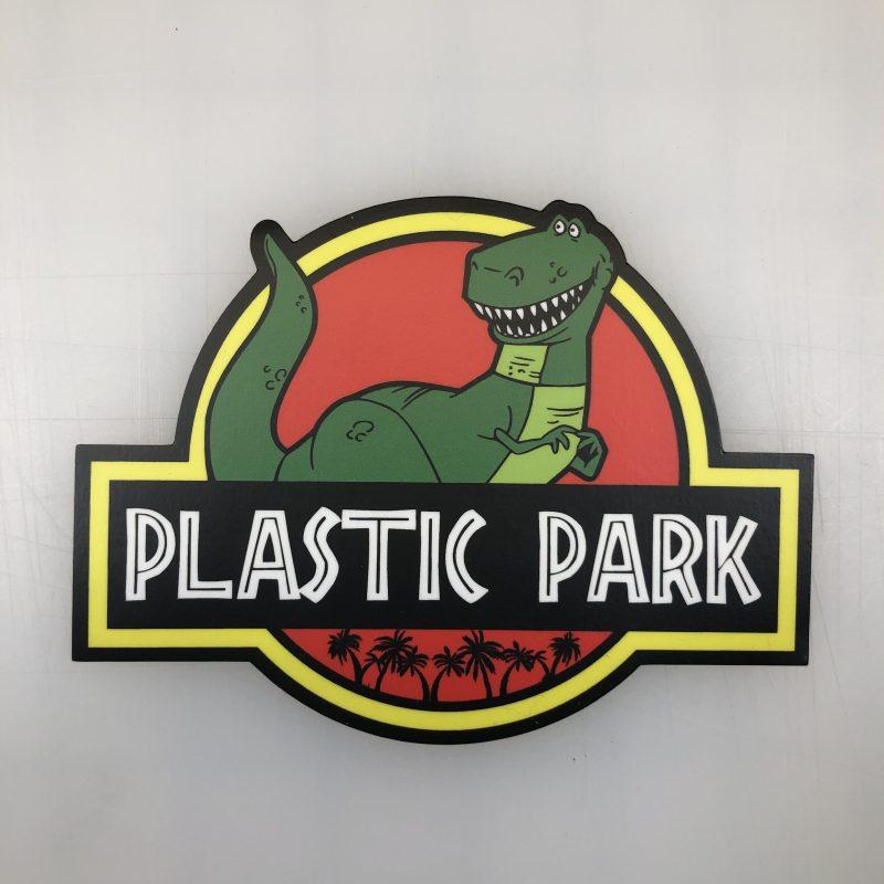 plastic park decal