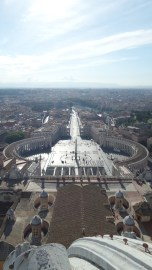 St. Peter's Square and Rome seen from the Cupola of St. Peter's Basilica