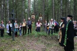 Panihida at Korpiselkä Cemetery