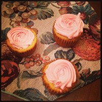 Cheesecake Pudding Cupcakes with Yogurt Filling and Strawberry Frosting