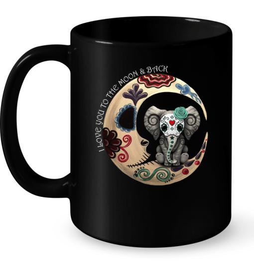 I Love You To The Moon Back Mug