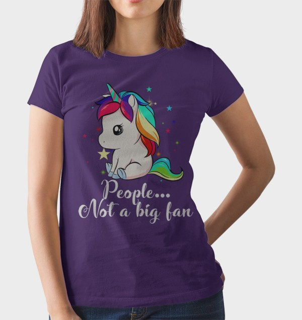 Unicorn People Not A Big Fan T-Shirt
