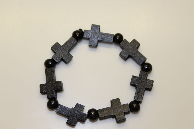 Black Cross Braclet