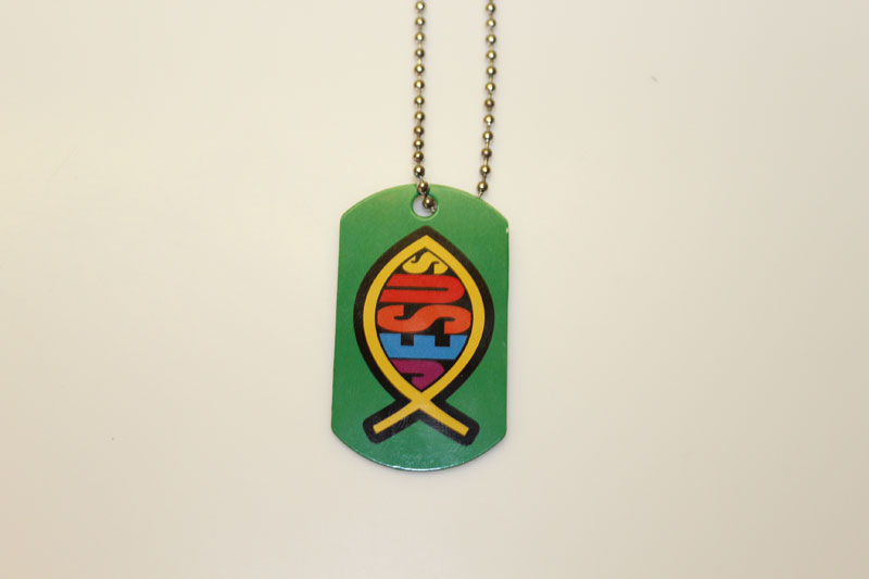 Jesus Fish Dog Tag Necklace