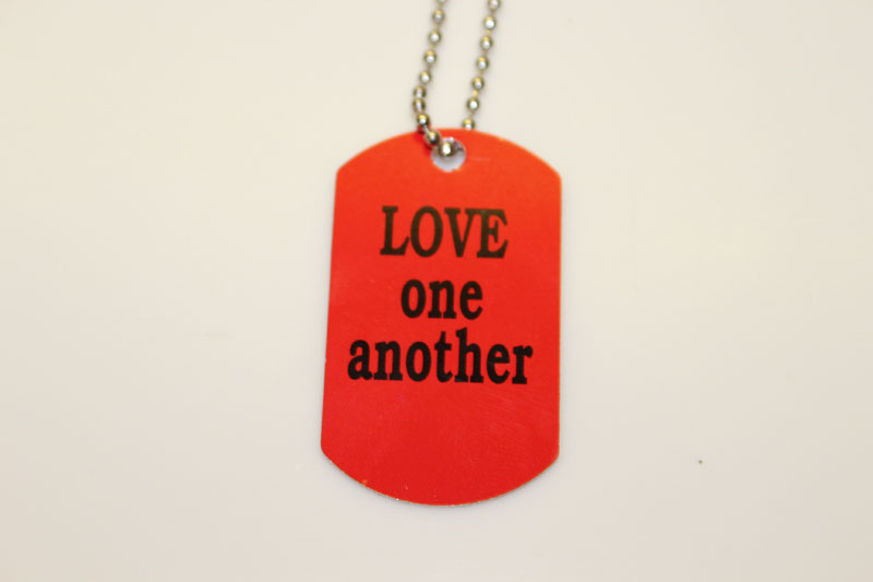 Love One Another Dog Tag Necklace