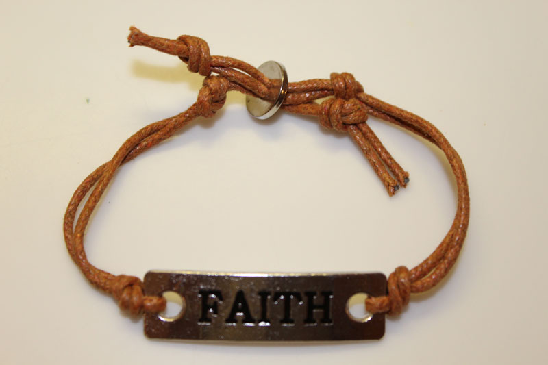 Faith Corded Bracelet