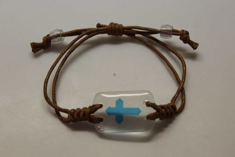 Faith Icon Leather Bracelet