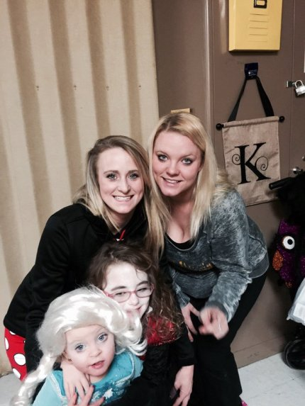 Leah Messer & Twins at School Halloween Party