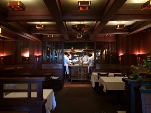 The open door concept of Chez Panisse's dining room.