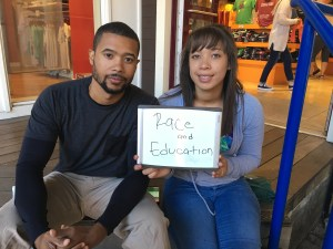 "Shaela Agunnupe said, ""FOr me, i think the most important is race and immigration, but definitely race."" Joshua Adger said, ""There are so many important things, but most important is education."""