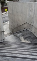 Close-up of the stairwell of the Burwood Corporate Centre